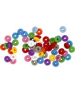 Stop Rings, assorted colours, 48 pc/ 1 pack
