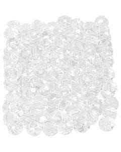 Faceted Beads, size 3x4 mm, hole size 0,8 mm, crystal, 100 pc/ 1 pack