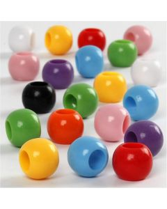 Pony Beads, D: 10 mm, hole size 4,5 mm, 110 ml/ 1 pack, 65 g