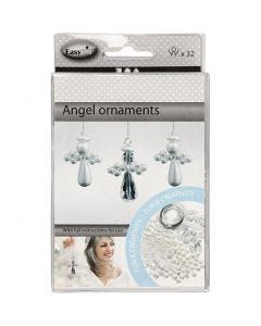 Angel Ornament, H: 2,8 cm, 32 pc/ 1 pack