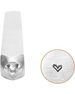 Embossing Stamp, Heart, L: 65 mm, size 3 mm, 1 pc
