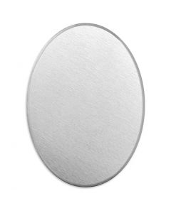 Metal Tag, Oval, size 18x13 mm, thickness 1,3 mm, aluminum, 15 pc/ 1 pack