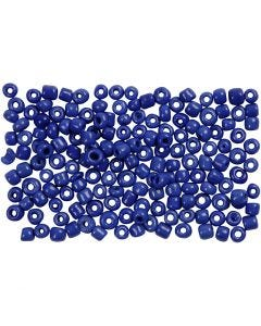 Rocaille Seed Beads, D: 3 mm, size 8/0 , hole size 0,6-1,0 mm, blue, 500 g/ 1 pack