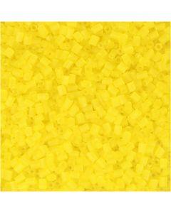 2-cut, D: 1,7 mm, size 15/0 , hole size 0,5 mm, transparent yellow, 500 g/ 1 bag