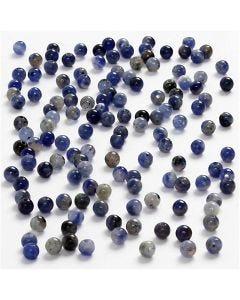 Genuine Stones, D: 3 mm, hole size 0,5-0,7 mm, blue, 120 pc/ 1 pack