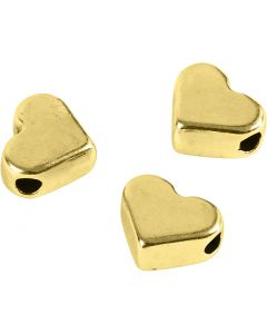 Spacer Bead, size 5,5x7 mm, hole size 1 mm, gold-plated, 3 pc/ 1 pack