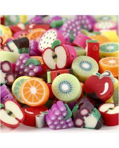 Clay Beads, D: 10 mm, hole size 1,5 mm, 200 asstd./ 1 pack