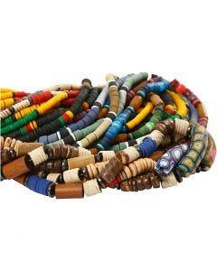Katsuki Beads, D: 5-10 mm, hole size 1,2-2 mm, 24x40 cm/ 1 pack