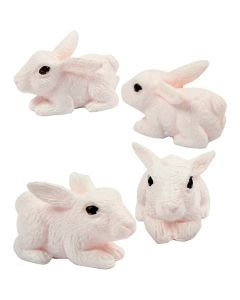Miniature figurines, H: 10 mm, 4 pc/ 1 pack