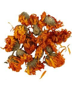 Dried flowers, Calendula, D: 1 - 1,5 cm, golden, 1 pack