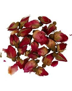 Dried flowers, Rosebuds, L: 1 - 2 cm, D: 0,6 - 1 cm, dark pink, 1 pack