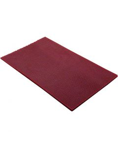 Beeswax Sheets, size 20x33 cm, thickness 2 mm, claret, 1 pc