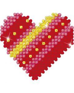 Diamond Dotz , Patchwork heart, size 7,6x7,6 cm, 1 pack