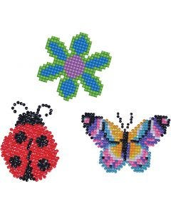 Diamond Dotz, flower, butterfly, lady bug, size 18x10 cm, 1 pack
