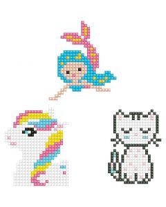 Diamond Dotz, Kitten, mermaid, pony, size 18x10 cm, 1 pack
