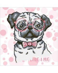 Diamond Dotz, Hug a pug, size 35,5x45,7 cm, 1 pack