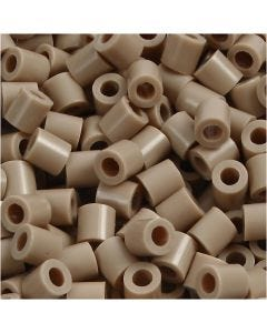 Fuse Beads, size 5x5 mm, hole size 2,5 mm, medium, beige (32248), 6000 pc/ 1 pack