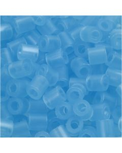 Fuse Beads, size 5x5 mm, hole size 2,5 mm, medium, neon blue (32235), 6000 pc/ 1 pack