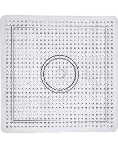 Peg Board, size 14,5x14,5 cm, transparent, 1 pc