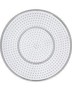 Peg Board, Large round, D: 15 cm, transparent, 1 pc