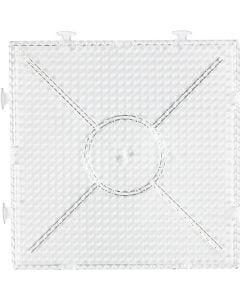 Peg Board, size 15x15 cm, transparent, 1 pc