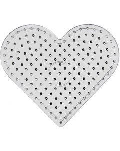 Peg Board, heart, JUMBO, transparent, 5 pc/ 1 pack