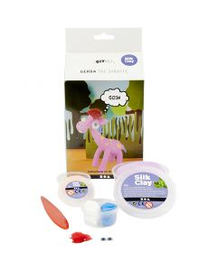 Funny Friends, Gerda the Giraffe, purple, 1 set