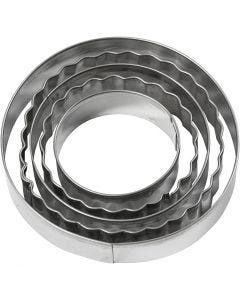 Cookie cutters, circle, size 8 cm, 5 pc/ 1 pack