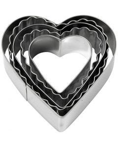 Cookie cutters, heart, size 8 cm, 5 pc/ 1 pack