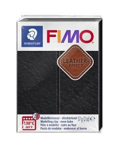 FIMO® Leather Effect , black (909), 57 g/ 1 pack