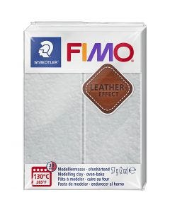 FIMO® Leather Effect , dove grey (809), 57 g/ 1 pack
