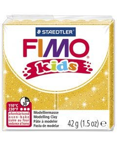 FIMO® Kids Clay, glitter, gold, 42 g/ 1 pack