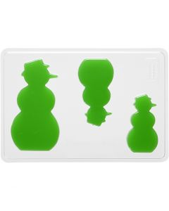 Casting Mould, snowman, H: 6+8+10 cm, size 14,9x22 cm, 1 pc