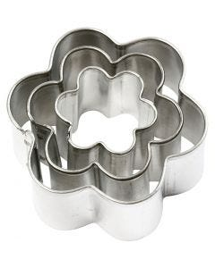 Metal Cutters, flower, size 40x40 mm, 3 pc/ 1 pack