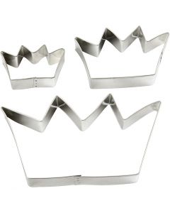 Metal Cutters, crown, size 13,3x7,5 cm, 3 pc/ 1 pack