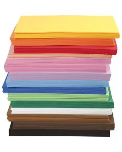 EVA Foam Sheets, A4, 210x297 mm, thickness 2 mm, 15x10 sheet/ 1 pack