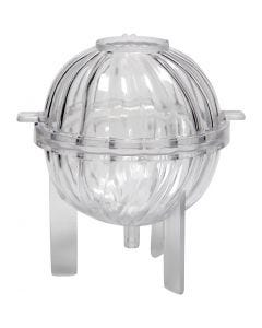 Candle Mould, Spiral sphere, H: 70 mm, 1 pc