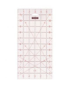 "Quilting ruler, size 6x12 "" cm, 1 pc"