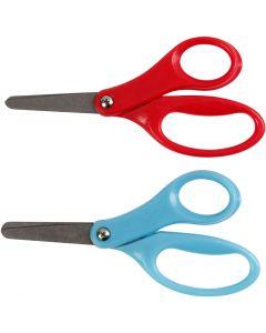 Kids Scissors, L: 13 cm, right, blue, red, 12 pc/ 1 pack