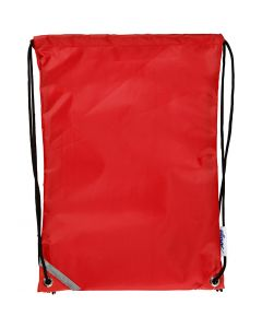 Drawstring bag, size 31x44 cm, red, 1 pc