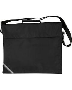 School Bag, size 36x31 cm, black, 1 pc