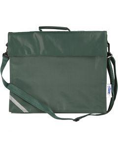 School Bag, size 36x31 cm, green, 1 pc