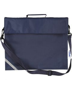 School Bag, size 36x31 cm, dark blue, 1 pc