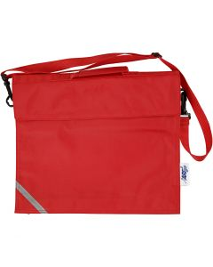 School Bag, size 36x31 cm, red, 1 pc