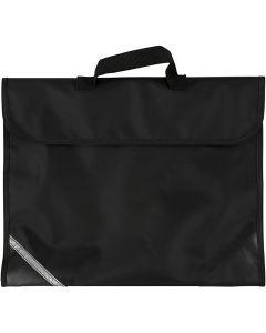 School Bag, size 36x29 cm, black, 1 pc