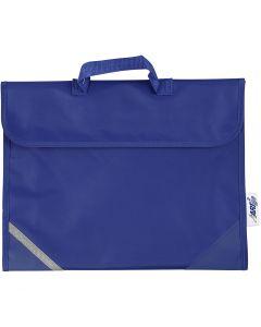 School Bag, size 36x29 cm, blue, 1 pc