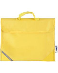 School Bag, size 36x29 cm, yellow, 1 pc