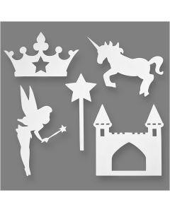 Fairy Tale, H: 13,5-27,5 cm, W: 9,5-25 cm, 230 g, white, 16 pc/ 1 pack