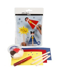 Mini Creative Kit, superhero, 1 set