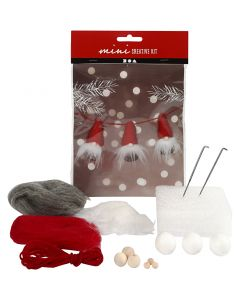 Creative mini kit, Nosy elves on a string, H: 6 cm, 1 set